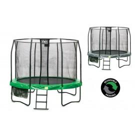 EXIT JumpArena rund trampolin  - Komplet sæt med sikkerhedsnet