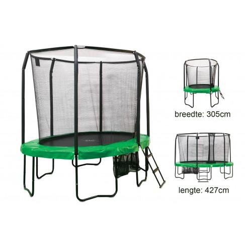 EXIT JumpArena Oval  trampolin - Komplet sæt