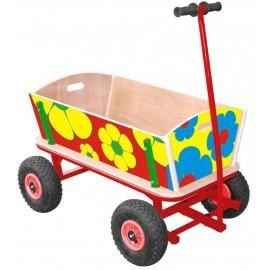 Flower trækvogn/ 2 personer