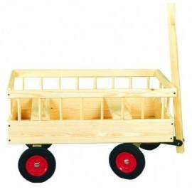 2-barns trækvogn - faste hjul