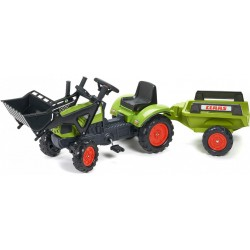 Claas Arion Pedal Traktor 410 m/frontskovl og trailer