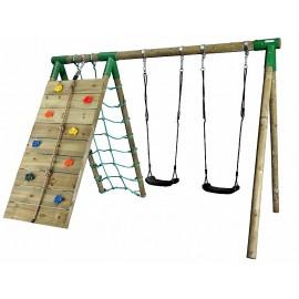 Hörby Bruk Træ gyngestativ Active Climb m/klatrevæg