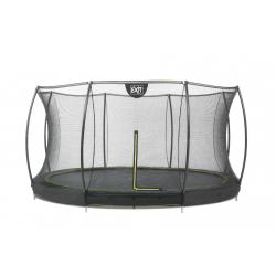 Silhouette rund nedgravnings trampolin med sikkerhedsnet (EXIT) - Sort