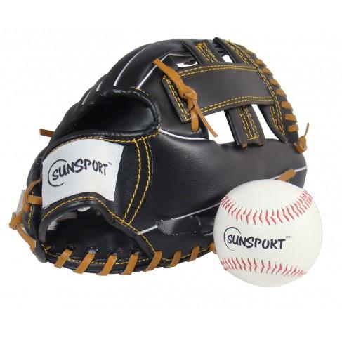 Baseball handske og bold sæt (SunSport)