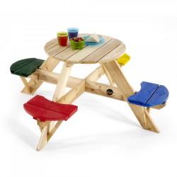 Havebord med farvede sæder (Plum)