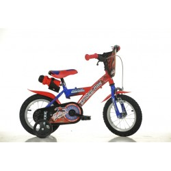"""12"""" Spiderman børnecykel med drikkedunk"""