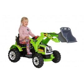 Azeno 12v el-drevet traktor til børn - grøn