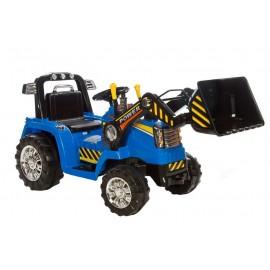 Azeno 12v el-drevet traktor til børn - blå