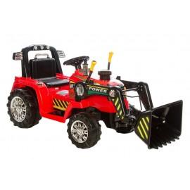 Azeno el-drevet traktor m/frontlæsser - Rød