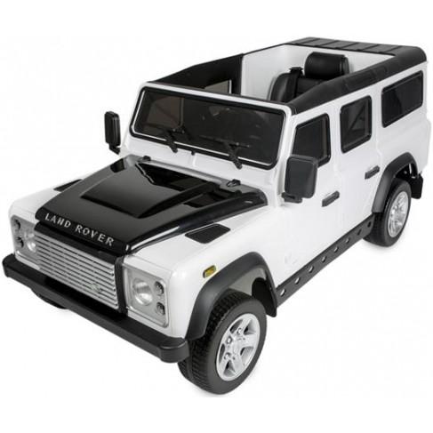 Land Rover Defender 12V med fjernbetjening og gummihjul