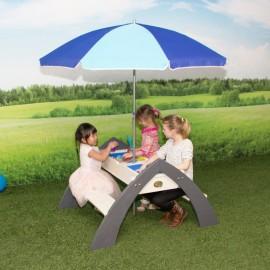 Delta havesæt med parasol og opbevaring