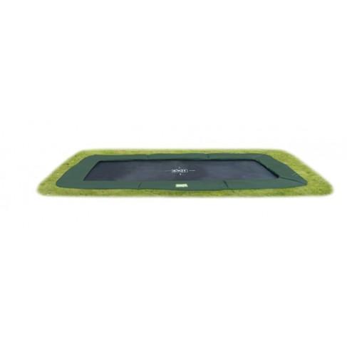 EXIT Interra Ground Level - Grøn - firkantet trampolin