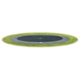 Interra Ground Level - Grå - rund trampolin til nedgravning
