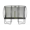 Silhouette firkantet trampolin - Sort (EXIT)