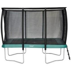Etan Premium Silver 3,00 x 2,30m (Grøn) Trampolin med net og stige