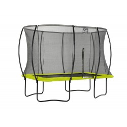 Silhouette firkantet trampolin - Lime - (EXIT)