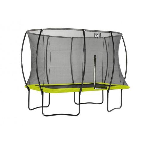 Silhouette firkantet trampolin - Lime - (EXIT)