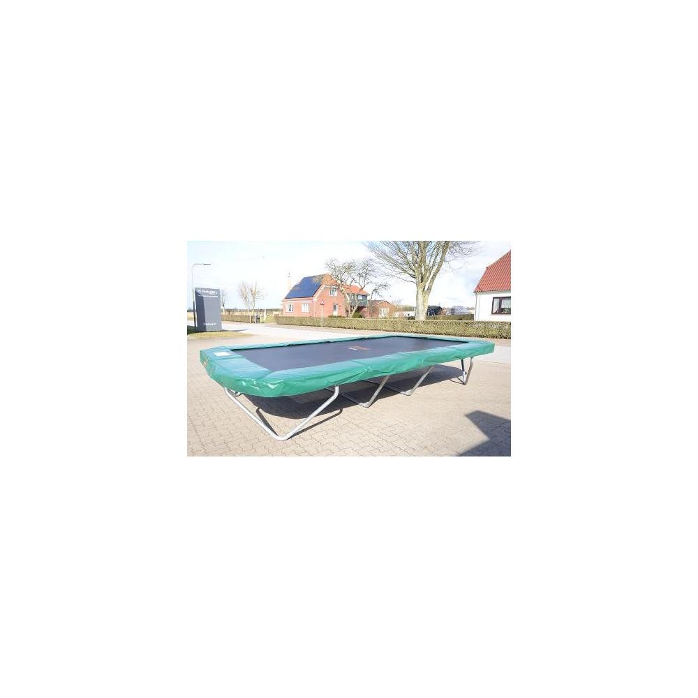 Fabriksnye Sportsjumper XL - stor firkantet trampolin til haven. EB-71