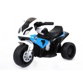 BMW S1000 motorcykel 6V med lædersæde - Blå