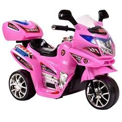Azeno 6V Night Rider Pink motorcykel
