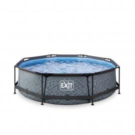 EXIT Stone pool ø3,0m med filterpumpe