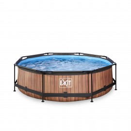 EXIT Wood pool ø3,0m med filterpumpe