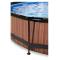 EXIT Wood pool ø360x76cm med filterpumpe