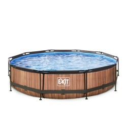 EXIT Wood pool ø3,6m med filterpumpe