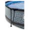 EXIT Stone pool ø300x76cm med filterpumpe