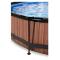 EXIT Wood pool ø360x76cm med dome og filterpumpe