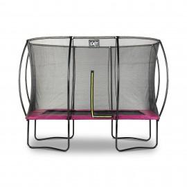 Silhouette firkantet trampolin - Pink - (EXIT)
