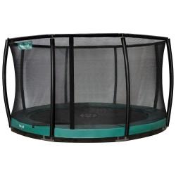 Etan Inground Premium Gold Combi Deluxe trampolin GRØN