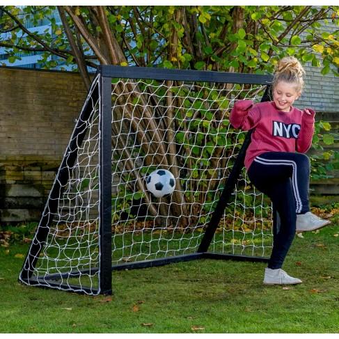 Homegoal Pro Junior Sort fodboldmål 175 x 140 cm