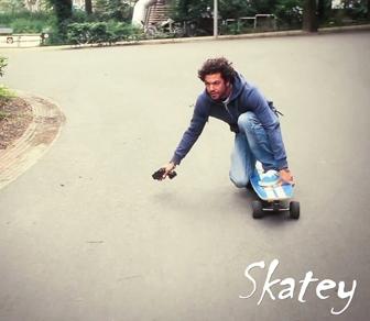Skatey el-skateboards med motor