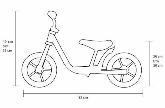 Stregtegning af løbecykel